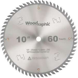 Woodraphic 10-Inch Table Saw Blade