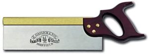 Lynx 10-Inch Tenon Saw with Stained Beech Handle and Filed for Rip Cutting