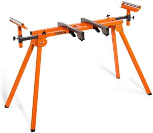 TACKLIFE Miter Saw Stand with Rollers and Extension Rail