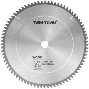 TWIN-TOWN 12-Inch Miter Saw Blade